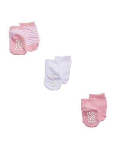 Tendertyme Socks in a Cone Three Pair Set-PINK-9-18 Months