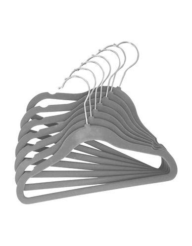 Tendertyme Baby Velvet Hangers Set-GREY-One Size