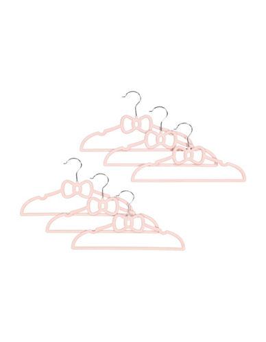 Tendertyme Bow Design Hanger Set-PINK-One Size