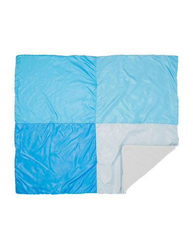 Tots Fifth Ave Colourblock Stroller Baby Blanket-BLUE-One Size