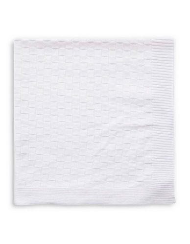Tots Fifth Ave Basket-Knit Blanket-WHITE-One Size