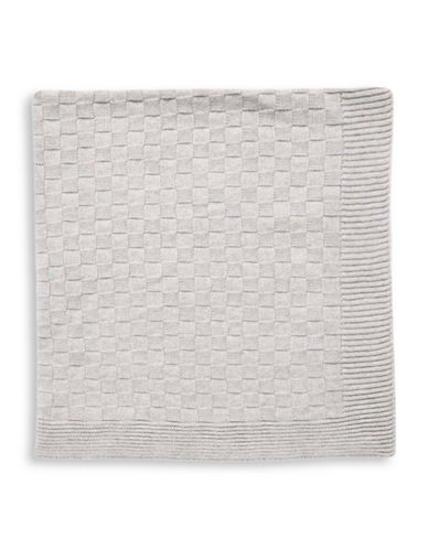 Tots Fifth Ave Basket-Knit Blanket-GREY-One Size
