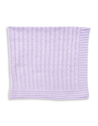 Tots Fifth Ave Cable Knit Blanket-PURPLE-One Size
