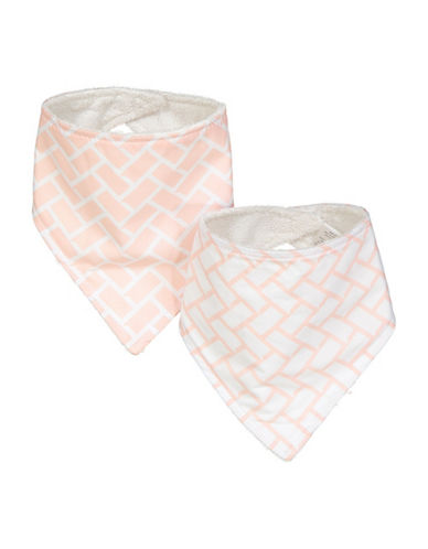 Amor Bebe Set Of Two Geometric Triangle Bibs-PINK-One Size