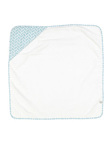 Amor Bebe Geometric Hooded Towel-BLUE-One Size