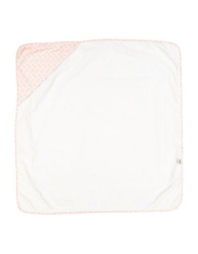 Amor Bebe Geometric Hooded Towel-PINK-One Size