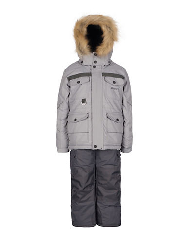 Gusti Boys Six-Piece Parka and Snow Pants Set-GREY-4