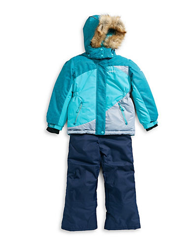 Gusti Girl's Five-Piece Faux Fur-Trimmed Hood Snowsuits (Clothing) photo