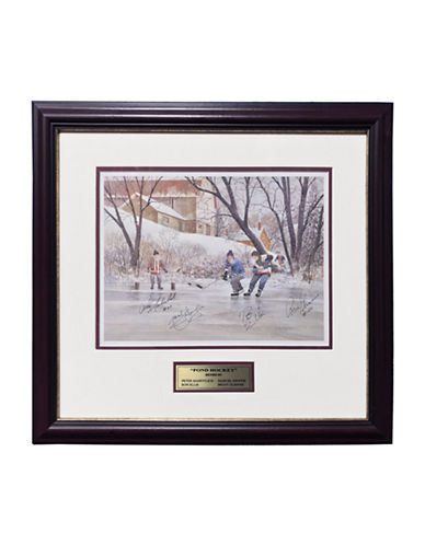 Heritage Hockey Pond Hockey Open Edition Signed Lithograph-MULTI-One Size