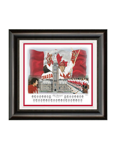 Heritage Hockey Team Canada 72 40th Anniversary 11inch x 14inch Framed Print-MULTI-One Size