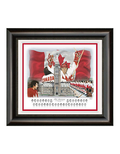 Heritage Hockey Team Canada 72 40th Anniversary 17inch x 20inch Framed Print-MULTI-One Size