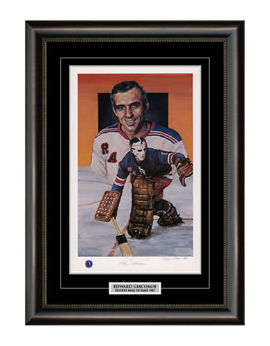 Heritage Hockey Ed Giacomin New York Rangers Signed Limited Edition Framed Print-MULTI-One Size