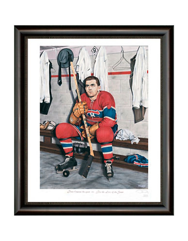 Heritage Hockey For The Love Of The Game   Maurice Richard Legends Series Framed Print-MULTI-One Size