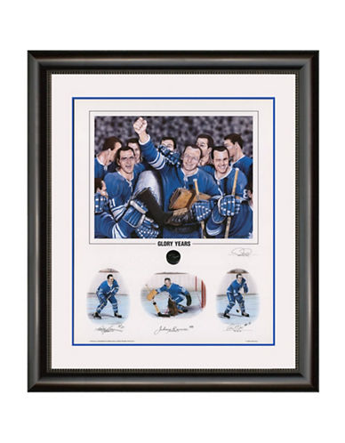 Heritage Hockey Glory Years   Bobby Baun, Johnny Bower and Ron Ellis Signed Limited Edition Framed Print-MULTI-One Size 88812207_MULTI_One Size