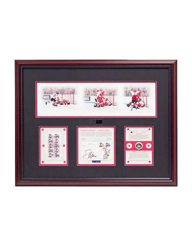 Heritage Hockey Paul Henderson and Vladislav Tretiak Signed Limited Edition Summit Series Framed Print-MULTI-One Size