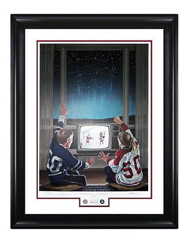 Heritage Hockey Hockey Night In Canada Limited Edition Signed Lithograph-MULTI-One Size
