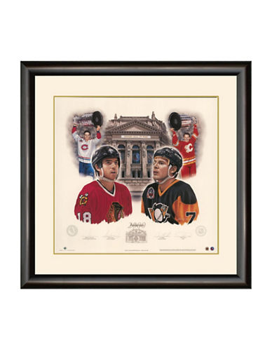 Heritage Hockey Inductees 2000   Denis Savard and Joe Mullen Signed Limited Edition Framed Print-MULTI-One Size