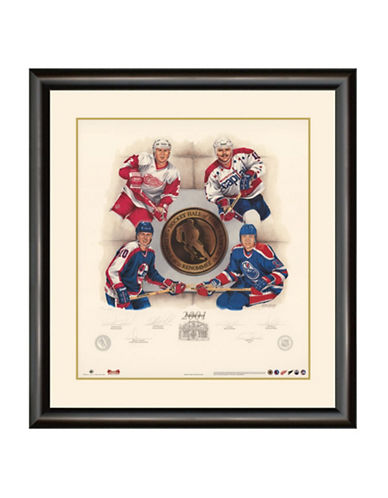 Heritage Hockey Inductees 2001   Viacheslav Fetisov, Dale Hawerchuk, Jari Kurri and Mike Gartner Signed Limited Edition Framed Print-MULTI-One Size