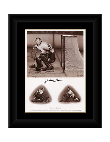 Heritage Hockey Johnny Bower   Signed Legends Series Framed Print-MULTI-One Size