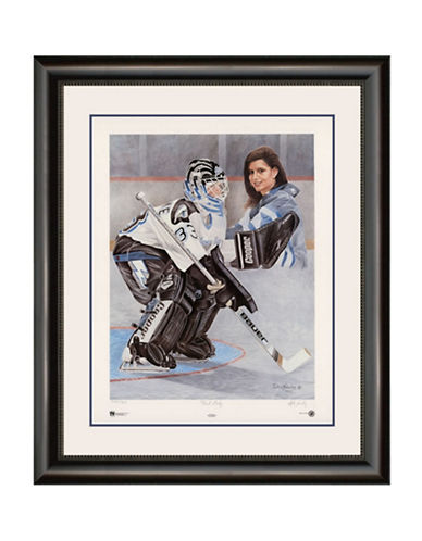 Heritage Hockey First Lady   Manon Rheaume Limited Edition Framed Print-MULTI-One Size