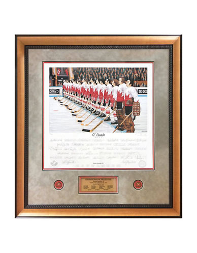 Heritage Hockey Team Canada 72 Signed Limited Edition Summit Series Framed Print-MULTI-One Size