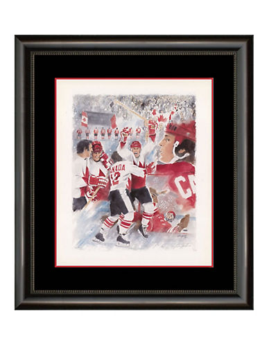 Heritage Hockey Paul Henderson Collage - Signed Limited Edition Summit Series Framed Print-MULTI-One Size