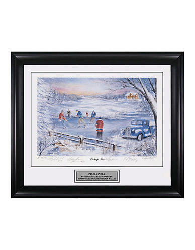 Heritage Hockey Pick-Up Six   Peter Mahovlich, Bobby Baun, Ron Ellis and Paul Henderson Signed Limited Edition Framed Print-MULTI-One Size