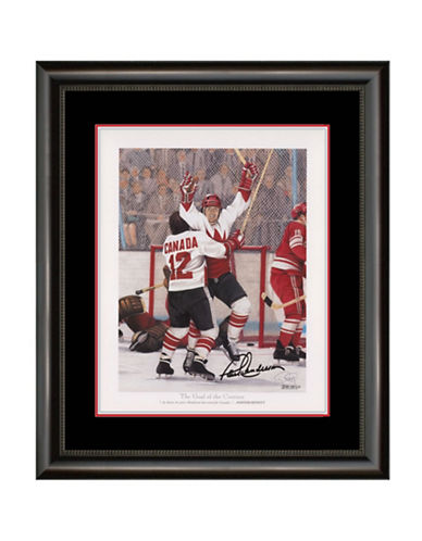 Heritage Hockey Paul Henderson The Goal of the Century Signed and Framed Lithograph-MULTI-One Size
