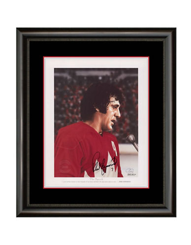 Heritage Hockey The Speech   Phil Esposito Signed Summit Series Legends Series Framed Print-MULTI-One Size