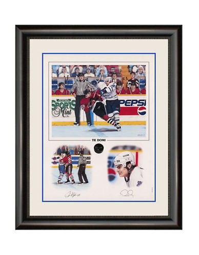Heritage Hockey Tie Domi Toronto Maple Leafs Signed Limited Edition Framed Print-MULTI-One Size