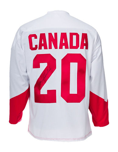 Heritage Hockey Peter Mahovlich Signed Team Canada 72 Summit Series Jersey-MULTI-One Size