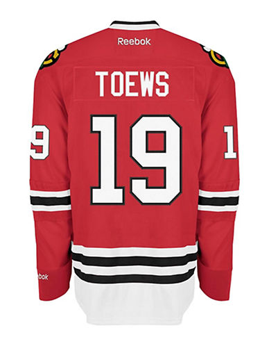 Reebok Jonathan Toews Chicago Blackhawks Home Jersey-RED-Small