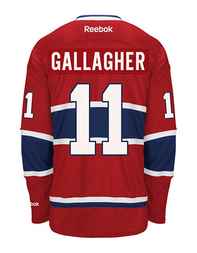 Reebok Brendan Gallagher Montreal Canadiens Home Jersey-RED-Medium