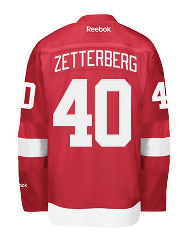 Reebok Henrik Zetterberg Detroit Red Wings Home Jersey-RED-X-Large