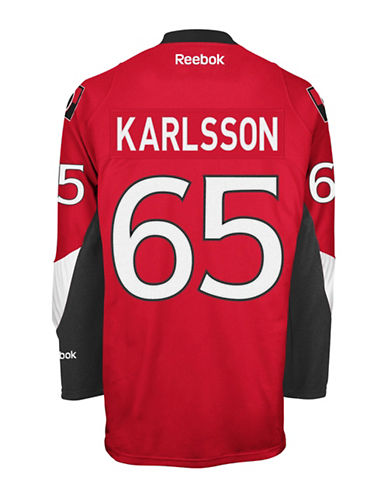 Reebok Erik Karlsson Ottawa Senators Home Jersey-RED-Small
