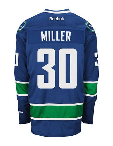 Reebok Ryan Miller Vancouver Canucks  Home Jersey-BLUE-Medium