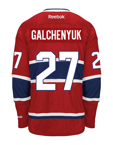 Reebok Alex Galchenyuk Montreal Canadiens Home Jersey-RED-Medium