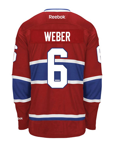 Reebok Shea Weber Montreal Canadiens Home Jersey-RED-Medium