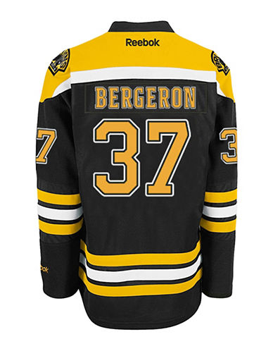 Reebok Patrice Bergeron Boston Bruins Home Jersey-BLACK-XX-Large