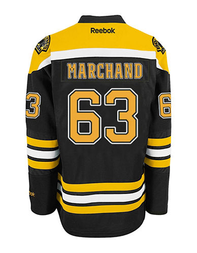 Reebok Brad Marchand Boston Bruins Home Jersey-BLACK-XX-Large