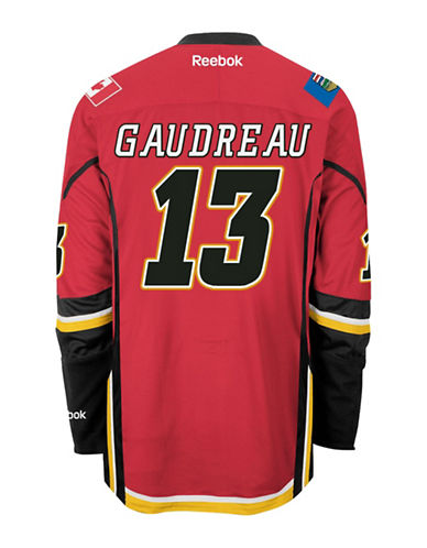 Reebok Johnny Gaudreau Calgary Flames Home Jersey-RED-Small