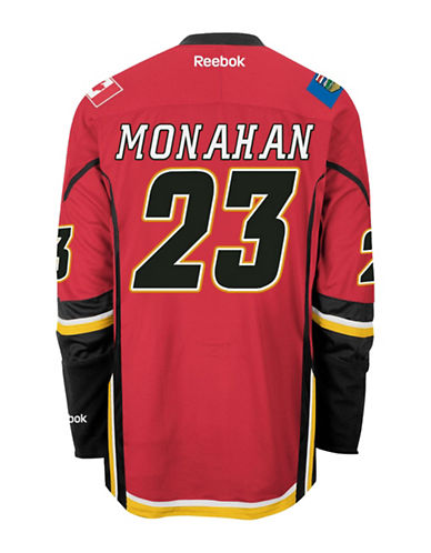 Reebok Sean Monahan Calgary Flames Home Jersey-RED-Small
