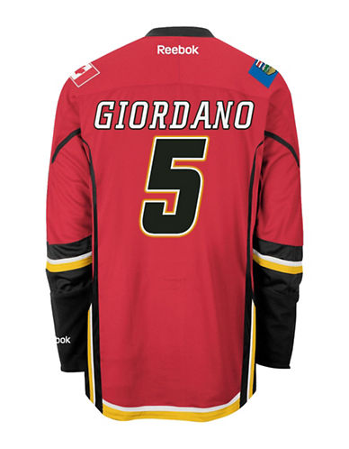 Reebok Mark Giordano Calgary Flames Home Jersey-RED-Small