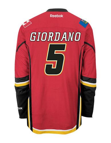 Reebok Mark Giordano Calgary Flames Home Jersey-RED-Small