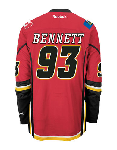 Reebok Sam Bennett Calgary Flames Home Jersey-RED-Small