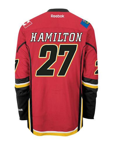 Reebok Dougie Hamilton Calgary Flames Home Jersey-RED-Small