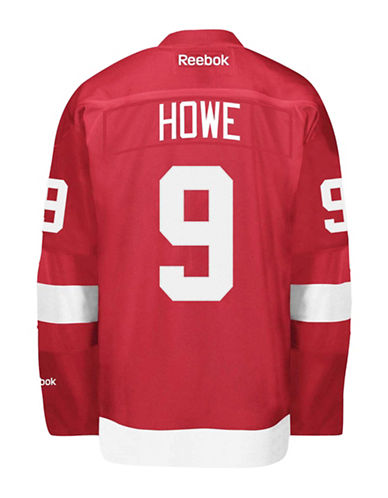 Reebok Gordie Howe Detroit Red Wings Home Jersey-RED-X-Large