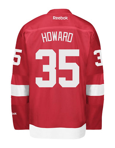 Reebok Jimmy Howard Detroit Red Wings Home Jersey-RED-X-Large