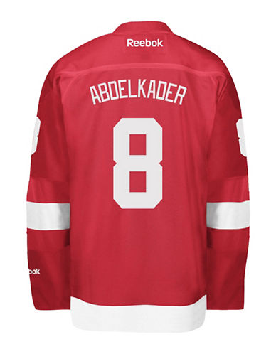 Reebok Justin Abdelkader Detroit Red Wings Home Jersey-RED-X-Large