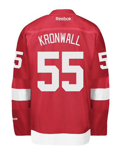 Reebok Niklas Kronwall Detroit Red Wings Home Jersey-RED-Medium